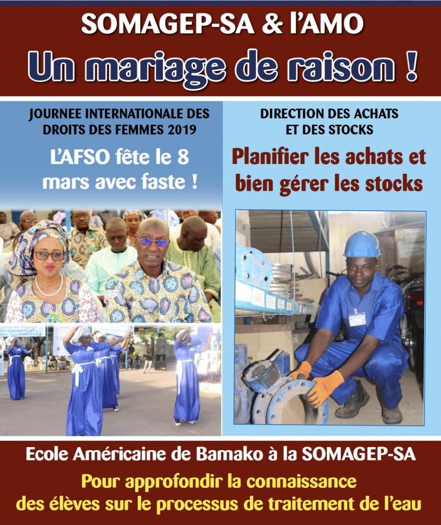 SOMAGEP-SA, revue trimestrielle d'informations générales N°15, Jan. – Mars. 2019