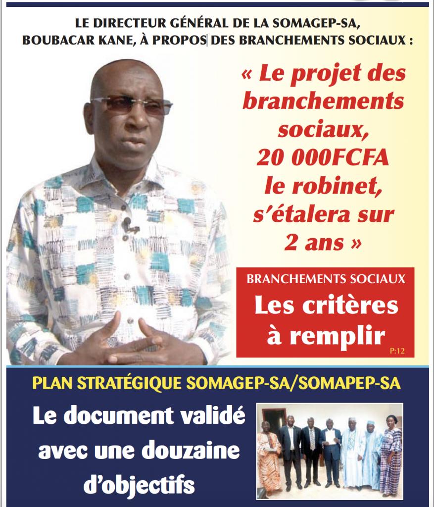 SOMAGEP-SA, revue trimestrielle d'informations générales N°17, Juillet. – Sept. 2019
